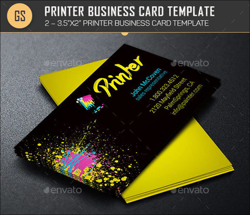 Printer Business Card Template