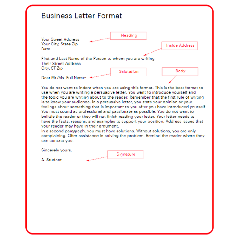 Professional Formal Letter Template