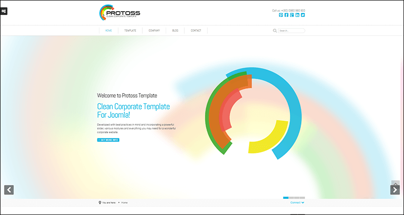 Protoss Clean Corporate Template For Joomla!