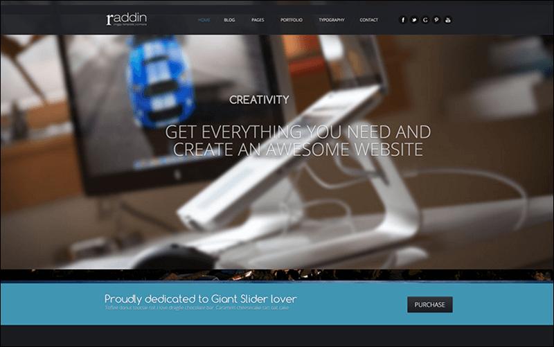 Raddin - Elegant Responsive Joomla Templates