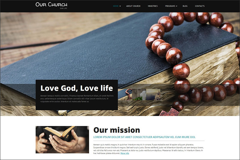 Religious Responsive Drupal Template