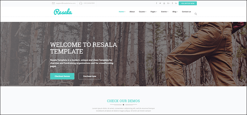 Resala - Charity & Crowdfunding Template