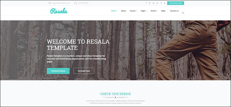 Resala - Charity & Crowdfunding Template