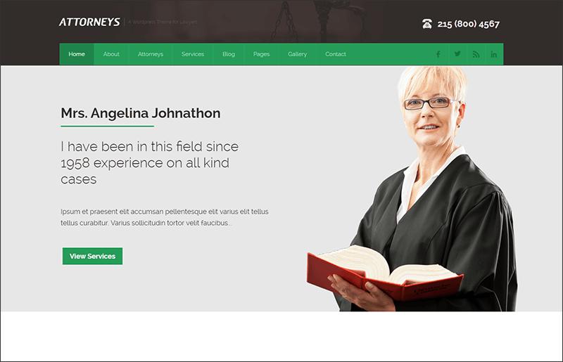 Responsive Attorney Corporate WordPress Theme