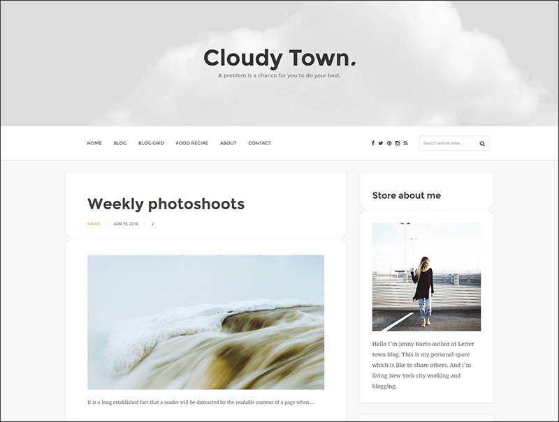 Responsive Clean Minimal Blog Theme