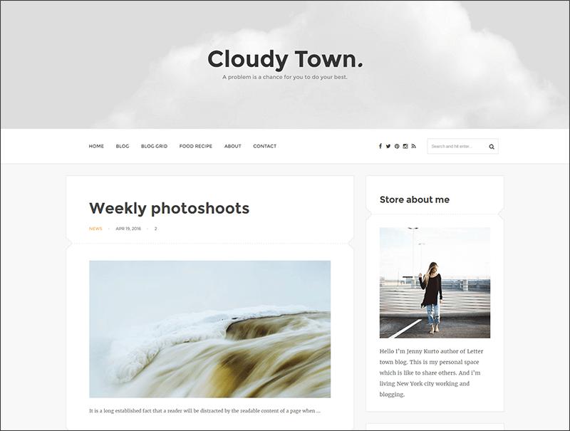 Responsive Clean Minimal Blog Theme