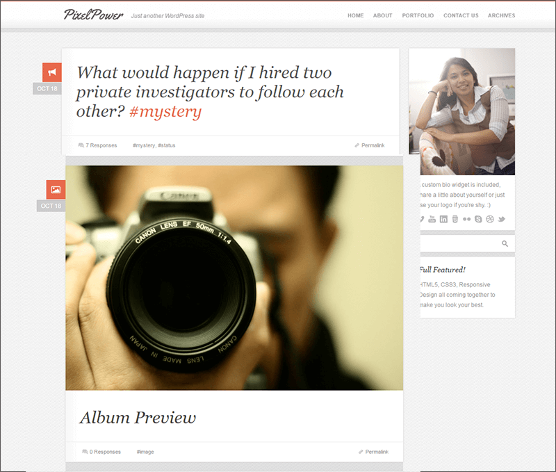 Responsive HTML5-CSS3 WordPress Theme
