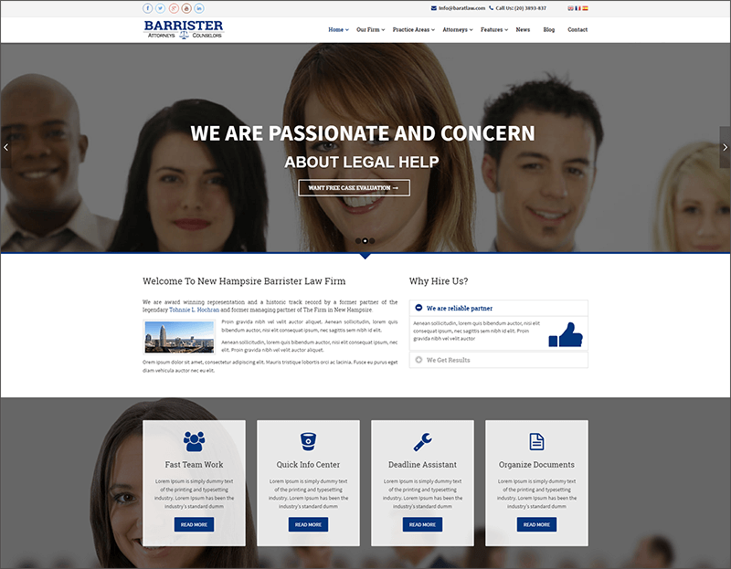 Responsive Law Business Joomla Template
