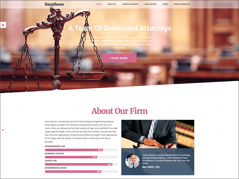 Responsive Law Firm Joomla Template