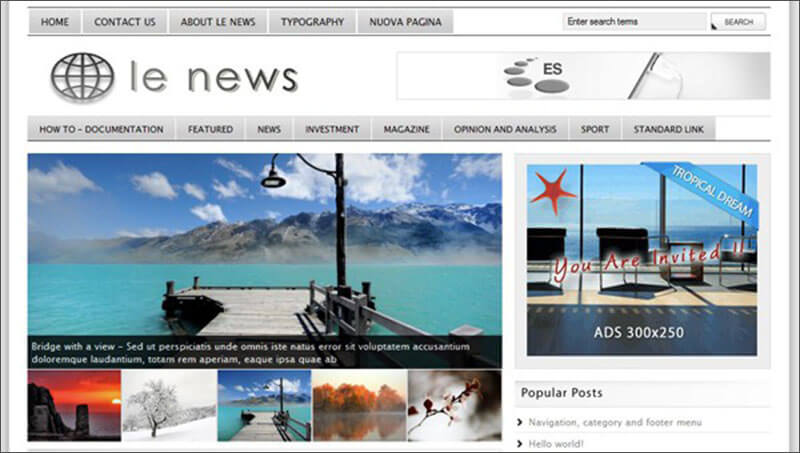 Responsive News HTML5 WordPress Theme