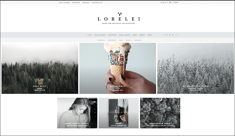 Responsive Nordic Blog & Shop Theme