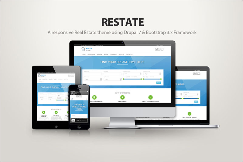 Restate - A real estate drupal theme