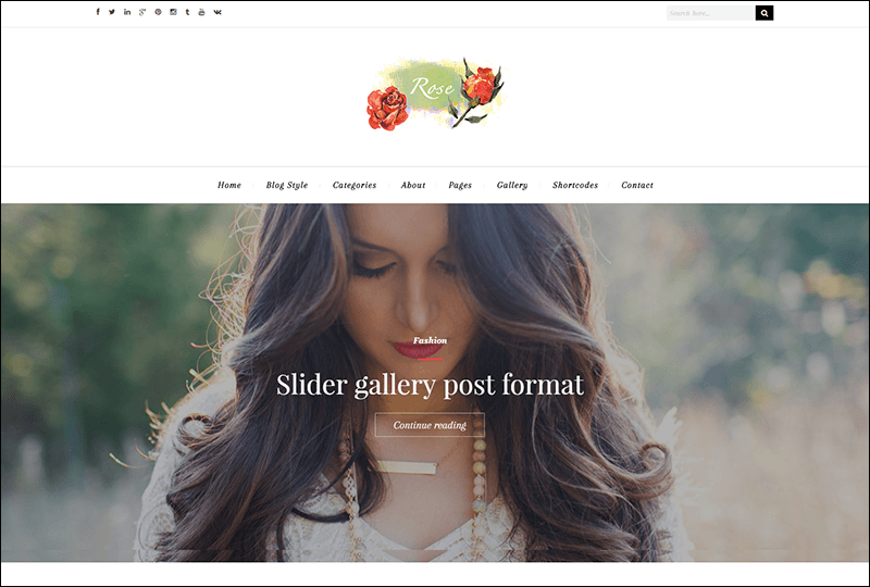 Rose – A Lovely WordPress Theme for Bloggers