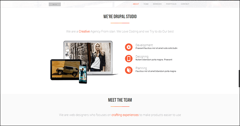 Royalet One Page Bootstrap Drupal Theme