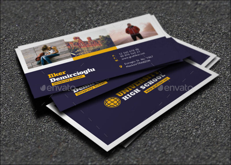 School Business Card Templates