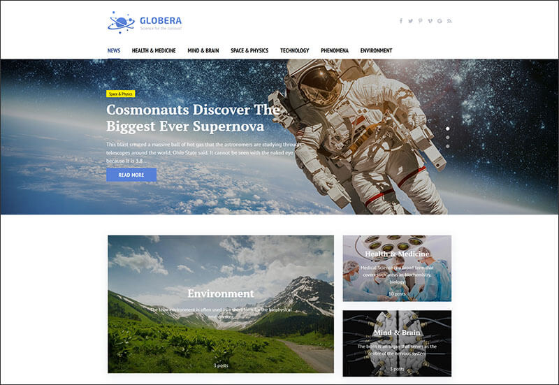 Scientific Magazine WordPress Theme