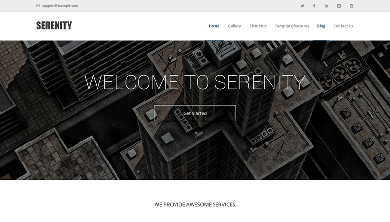 Serenity – Drupal Theme for Business and Portfolio