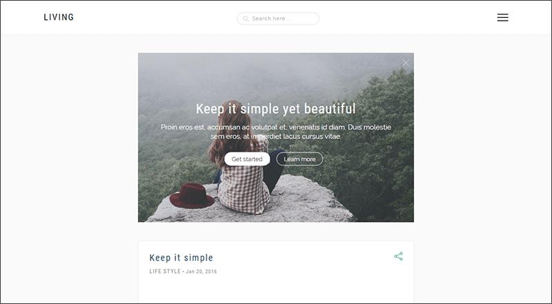 Simple & Elegant blog for Creatives