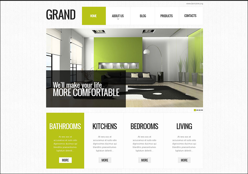 Special Interior Design Drupal Template