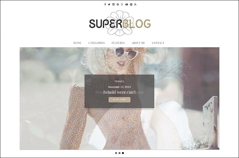 Superblog – Responsive WordPress Blog Theme