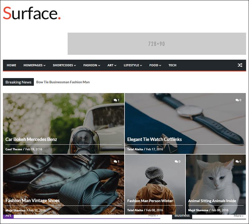 Surface - Responsive Magazine Blogger Theme