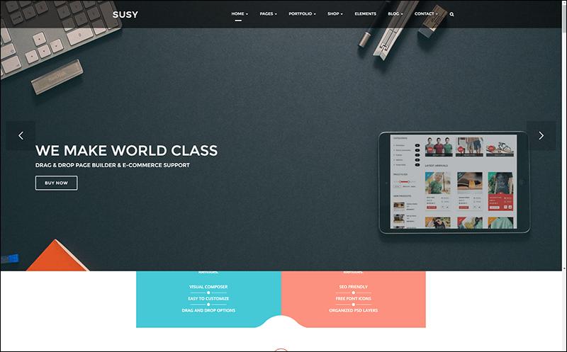 Susy Creative Multi-Purpose WordPress Theme