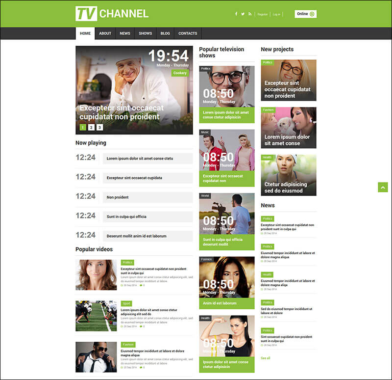 TV Channel Responsive Joomla Template 2