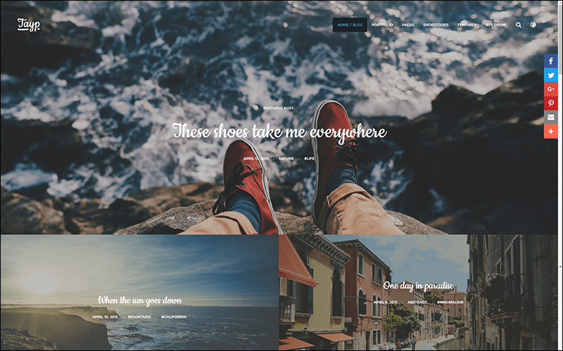 Tayp WP – WordPress Blogging Theme