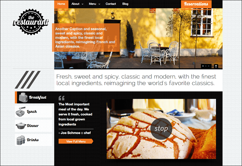 The Restaurant Business & Magazine Template