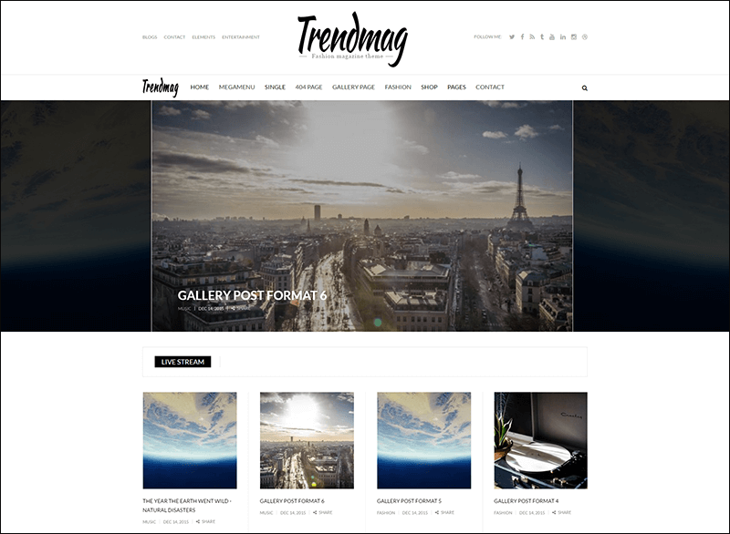 Trend Mag Magazine Drupal theme