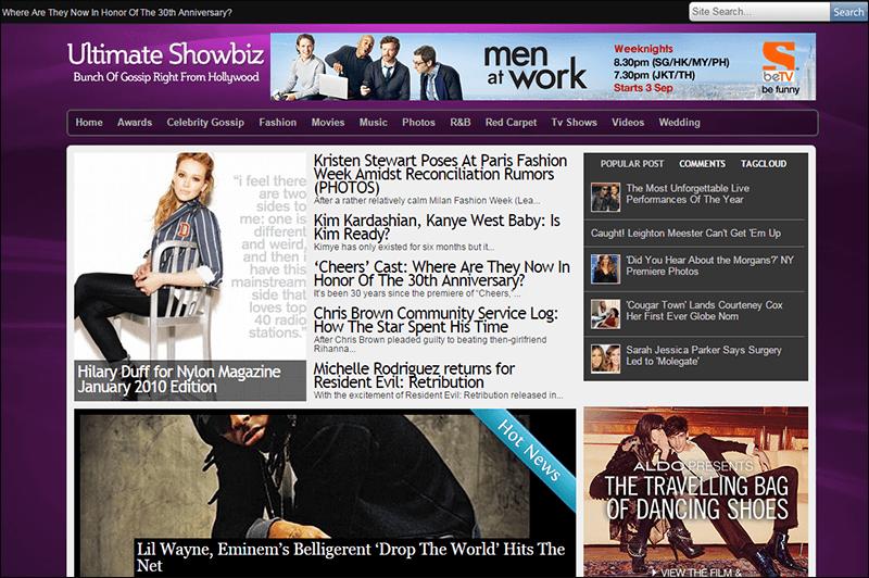 Ultimate Showbiz News WP Theme