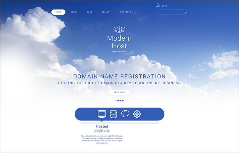 Unlimited Web Hosting Joomla Template