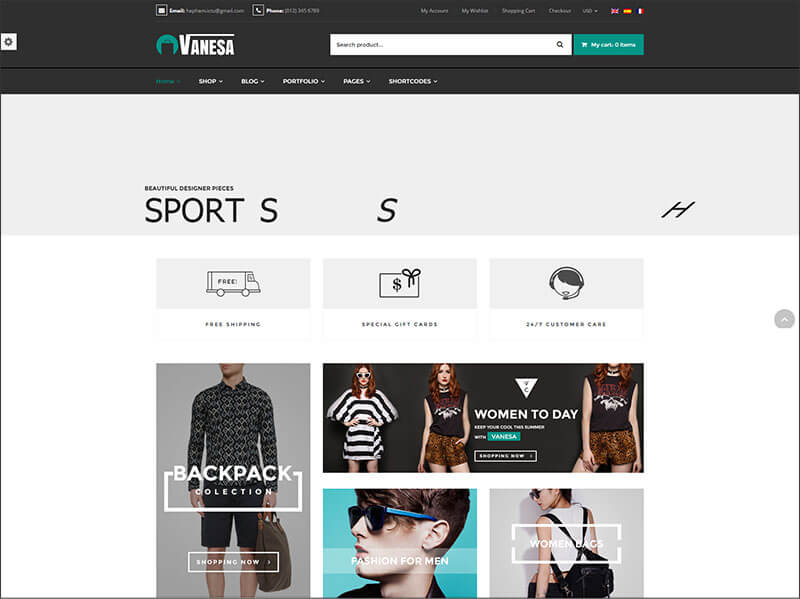 Vanesa - Responsive Shopify Fashion Theme