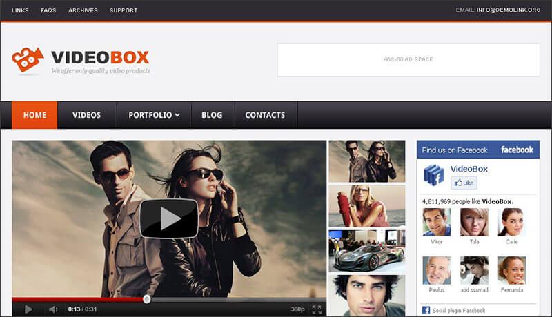 Video Gallery WordPress Theme