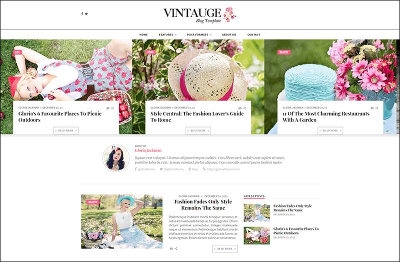 Vintauge - Responsive Blog & Fashion Ghost Blog Theme