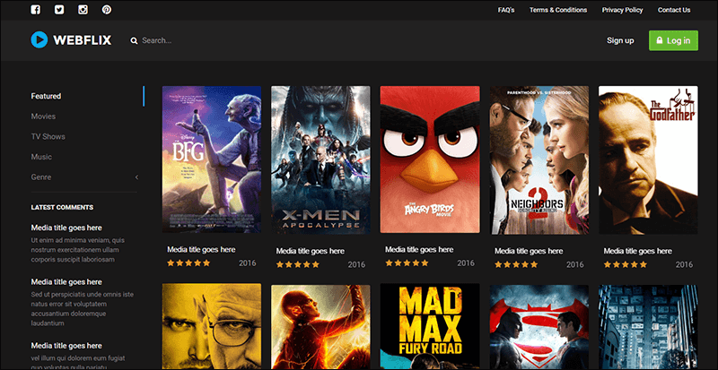 Webflix - Streaming Media Theme