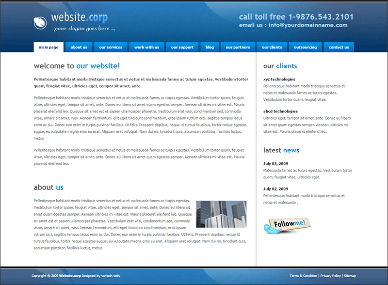 Website Corp Elegant Template