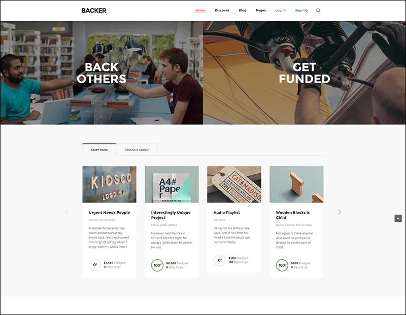 Backer - The Modern WordPress Crowdfunding Theme