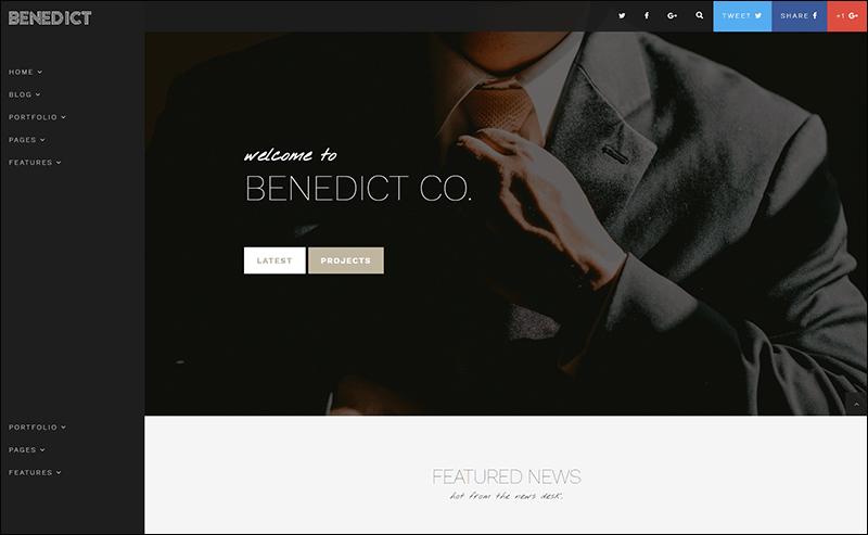 Benedict - Creative Blog Portfolio Template