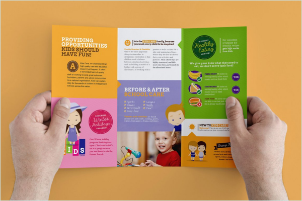 Child Care Brochure Design Idea