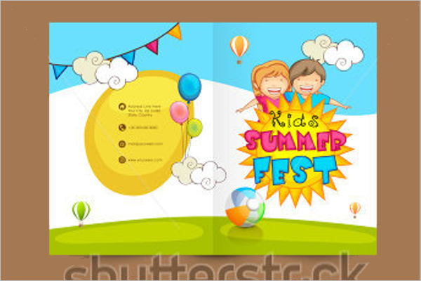 Child Care Brochure Template PSD