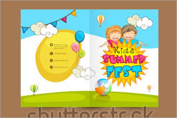 Child Care Brochure Template PSD