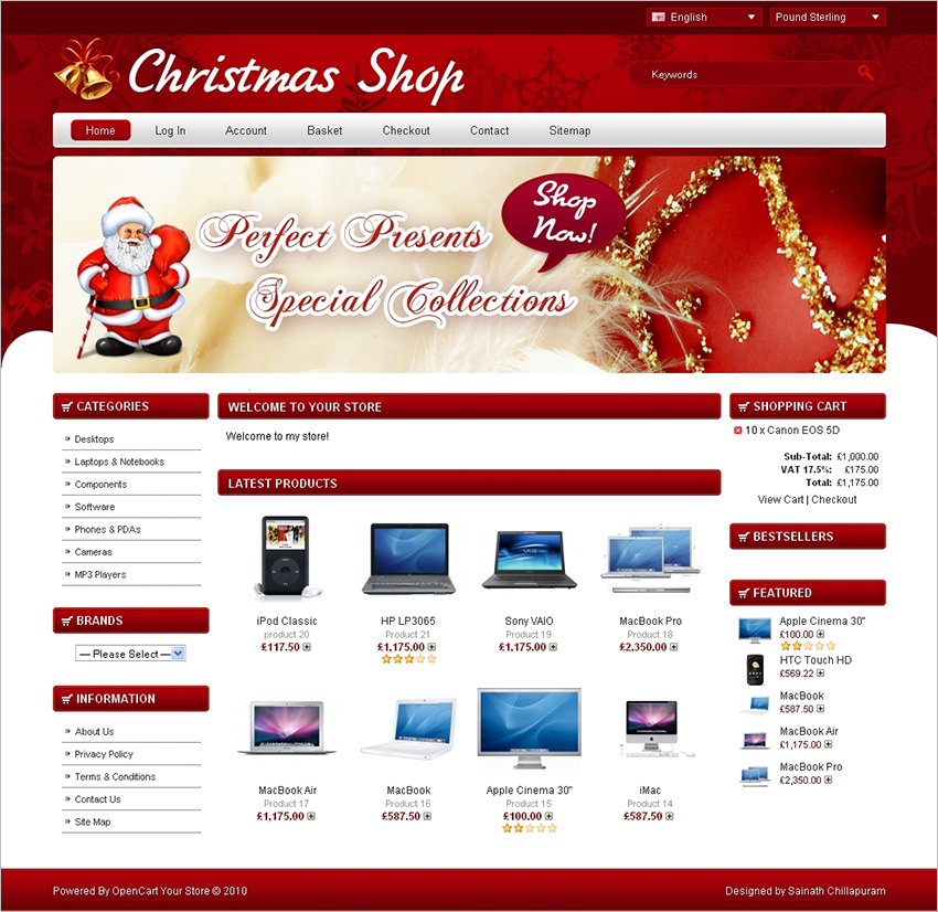 9 christmas ecommerce website themes free website templates. Black Bedroom Furniture Sets. Home Design Ideas