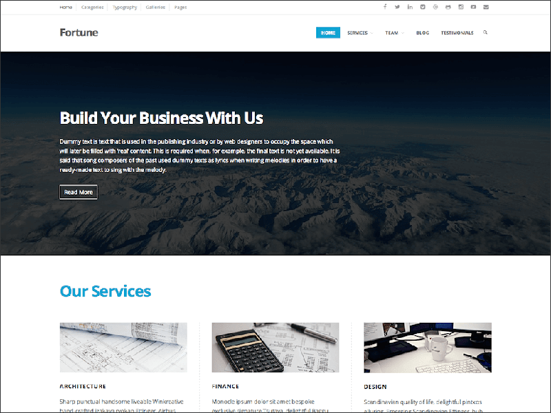 Classic Business Website Theme