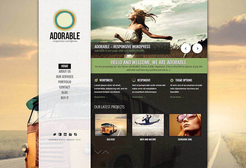 Clean and Personal Responsive WordPress Theme