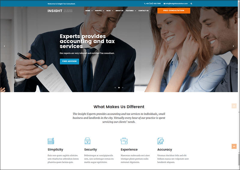 Consulting, Business Website Template