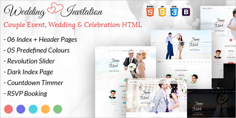 Couple Event and Celebration HTML Template