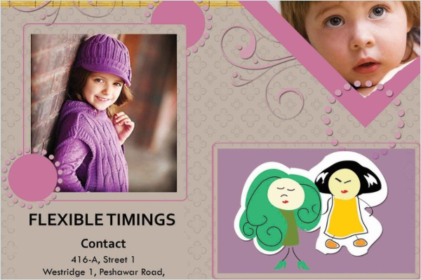 Daycare Brochure Example Design