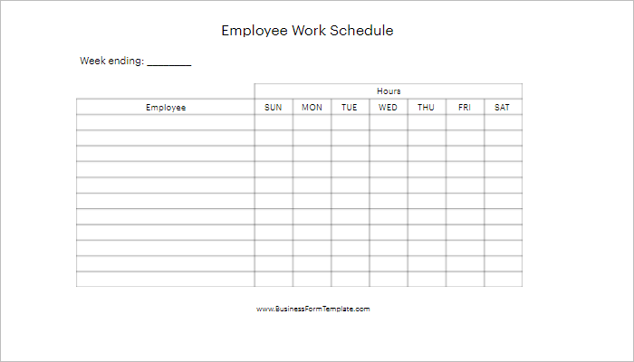 Download Daily Work Schedule Template