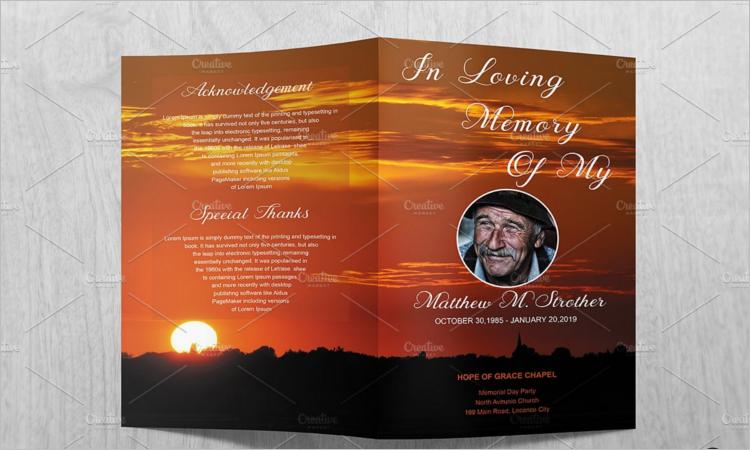 Editable Funeral Brochure Template